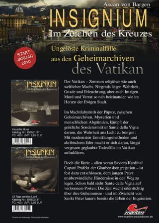 """テレビドラマ""""Insignium ? Im Zeichen Des Kreuzes"""" フライヤー"""